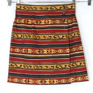 Breeches Wrap Skirt Southwestern Vintage Size 12